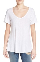 Women's Socialite Back Cutout Slub V Neck Tee