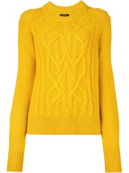 Isabel Marant 'Gabao' Cable Knit Jumper Yellow And Orange