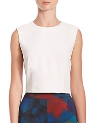 Alice Olivia Kylnn Sleeveless Cropped Top Black