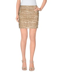 Blumarine Skirts Mini Skirts Women Khaki