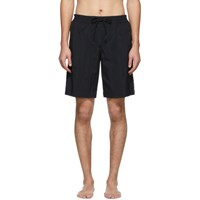 Versace Underwear Black Logo Tape Swim Shorts