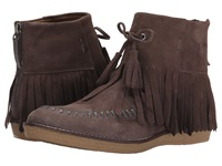 Trask Flora Charcoal Water Resistant Kid Suede Women's Dress Boots Brown