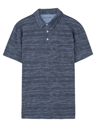 Jigsaw Mini Stripe Polo Shirt Navy