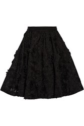 Alice Olivia Earla Embroidered Tulle Skirt Black