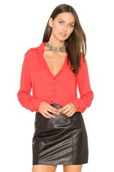 Krisa Wrap Back Button Up Coral