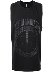 Astrid Andersen Athletic Tank Men Cotton Spandex Elastane L Black