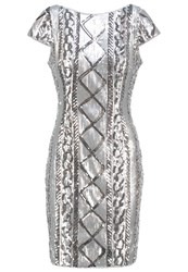 Adrianna Papell Cocktail Dress Party Dress Silver