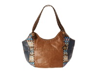 The Sak Indio Satchel Blue Tribal Shoulder Handbags