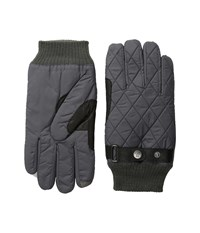 Original Penguin Quilter Nylon Gloves Factory Grey Extreme Cold Weather Gloves Black