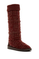 Muk Luks Shelly Knit Boot Red