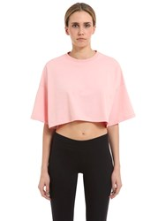 Puma Select Flocked Cropped Heavy Jersey T Shirt