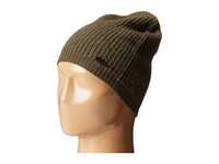 John Varvatos Half Cardigan Slouchy Hat Dark Fatigue Knit Hats Green