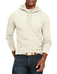 Polo Ralph Lauren Waffle Knit Cotton Hoodie Natural