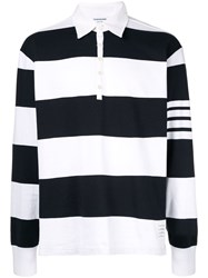 Thom Browne Oversized Rugby Polo Shirt White