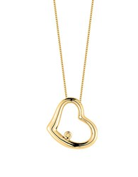 Roberto Coin Tiny Treasures Baby Heart Diamond And 18K Yellow Gold Pendant Necklace