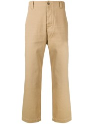 Prps Straight Leg Trousers Nude And Neutrals