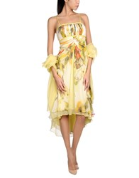 Carlo Pignatelli 3 4 Length Dresses Yellow