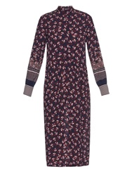 Mother Of Pearl Lawrence Blossom Print Silk Dress