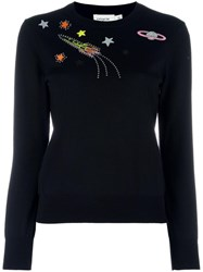 Coach Space Embroidery Jumper Black