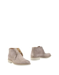 Andrea Morelli Ankle Boots Beige