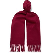 Johnstons Of Elgin Fringed Cashmere Scarf Merlot
