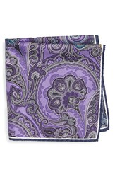 Nordstrom Men's Men's Shop Paisley Silk Pocket Square Purple
