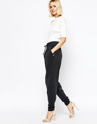 Gestuz Slouchy Pants In Cupro Anthracite
