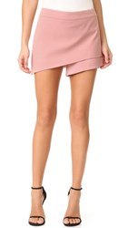 Michelle Mason Asymmetrical Skort Dark Blush