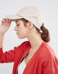 Asos Plain Baseball Cap With New Fit Stone