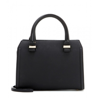 Victoria Beckham Mini Victoria Leather Shoulder Bag Black