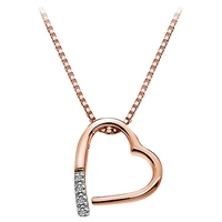 Hot Diamonds Open Heart Memories Pendant Necklace Rose Gold