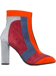 Just Cavalli Colour Block Ankle Boots Grey