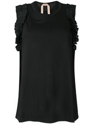 N 21 No21 Embellished Sleeveless Top Black