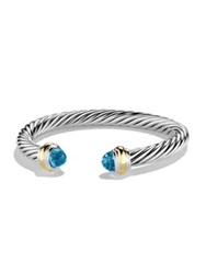 David Yurman Cable Classics Bracelet With Gold Amethyst Blue Topaz