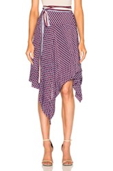 Alexis Danica Wrap Skirt In Blue Geometric Print Purple Blue Geometric Print Purple