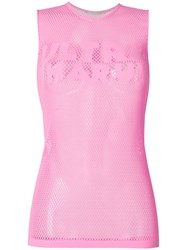 Marco De Vincenzo Ultrapharum Net Vest Pink And Purple