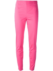 Moschino Slim Fit Trousers Pink And Purple