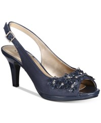 Karen Scott Bronaa Sling Back Pumps Only At Macy's Women's Shoes Navy
