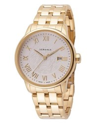 Versace Business Stainless Steel Bracelet Watch Golden