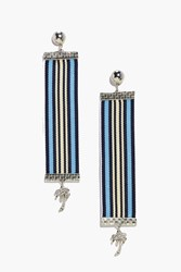 Boohoo Amy Boutique Stripe Tape Palm Tree Earrings Gold