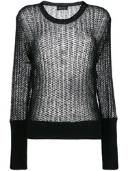 Andrea Ya'aqov Open Knit Jumper Black