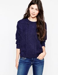 Pepe Jeans Sharon Cable Jumper Blue