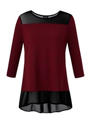 Grace Made In Britain Tunic With Mesh Berry