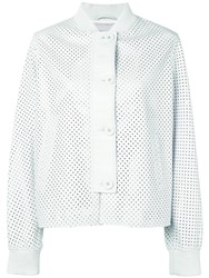 Simonetta Ravizza Ibiza Leather Jacket White