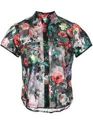 Harvey Faircloth Floral Blouse Black