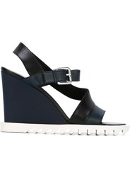 Jil Sander Wedged Sandals Blue
