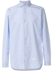 Dnl Plain Button Down Shirt Blue