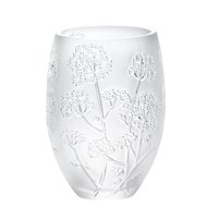 Lalique Clear Ombelles Round Vase