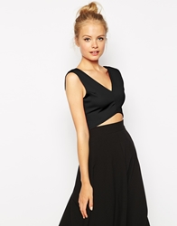 Fashion Union Crop Top With Curved Hem