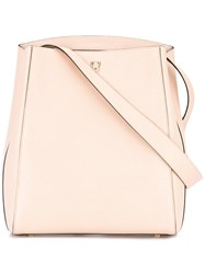 Valextra Structured Shoulder Bag Women Calf Leather One Size Nude Neutrals